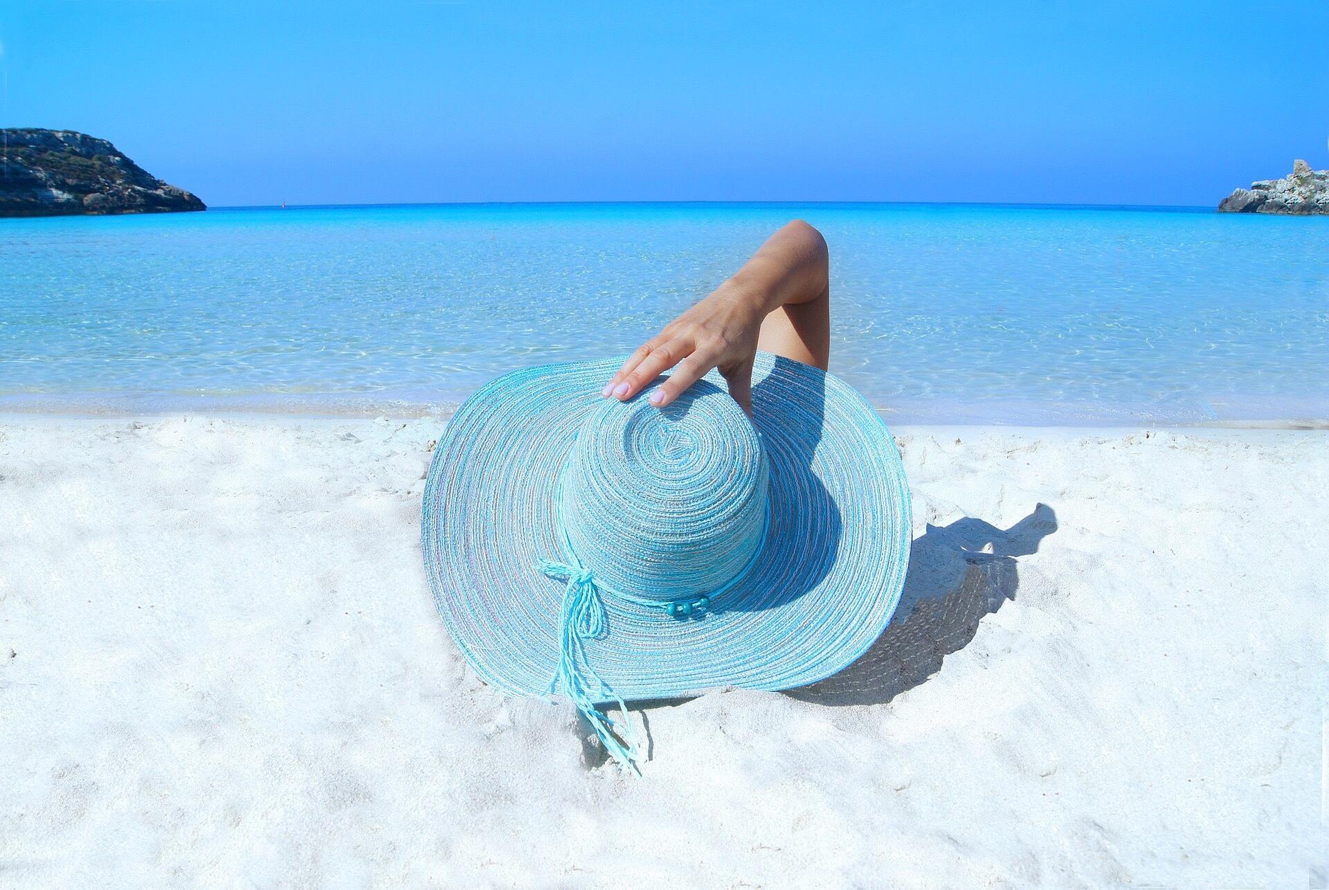 Belleza lista para la playa