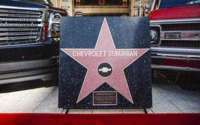 Chevrolet Suburban consigue una estrella en el Paseo de la Fama