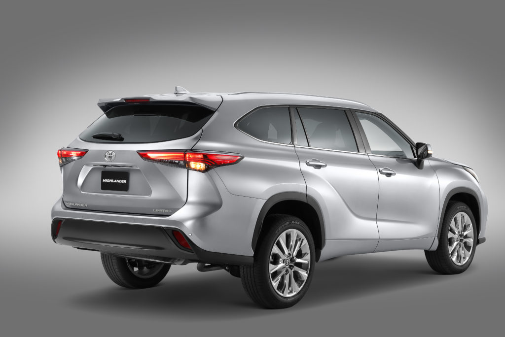 Toyota highlander 2020 Trasero