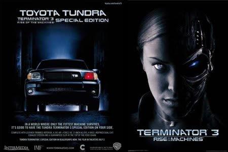 Autos Toyota de película / terminator