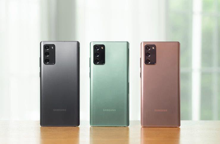 Samsung Galaxy Note 20 y Note 20 Ultra, sublimes
