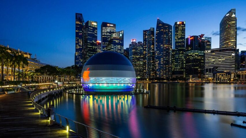 Apple Store en Singapur flotante: impresionante