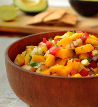 Receta de ceviche de mango para guardar la dieta