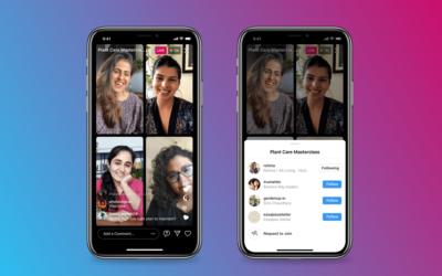 Instagram Live Rooms hasta 4 personas en vivo