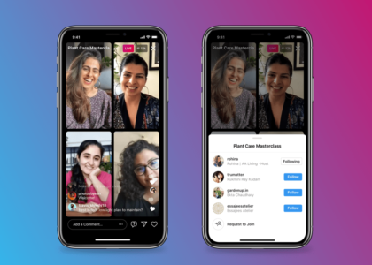 Instagram Live Rooms hasta 4 personas en vivo