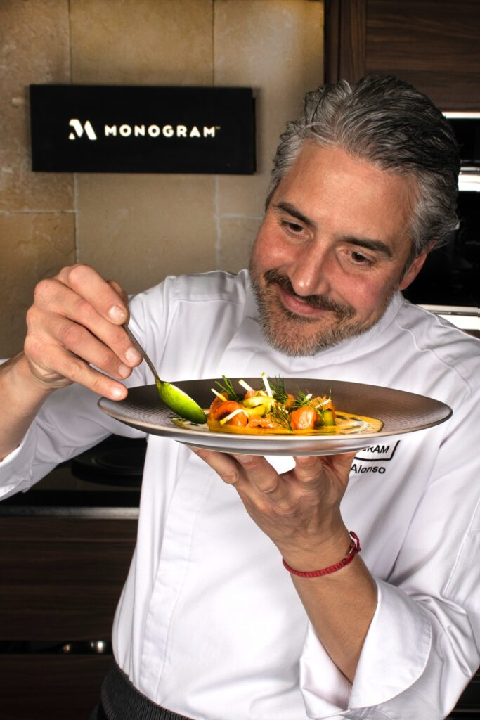 receta de salmón marinado de Mikel Alonso